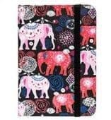 Jazzy Lined Notebook - Small elephant